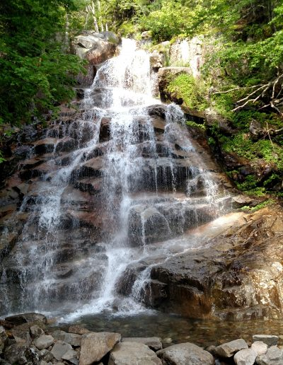 A small waterfall in the White Mountains of New Hampshire